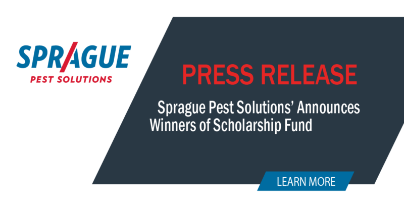 Scholarship Fund Winners Announced by Sprague Pest Solutions